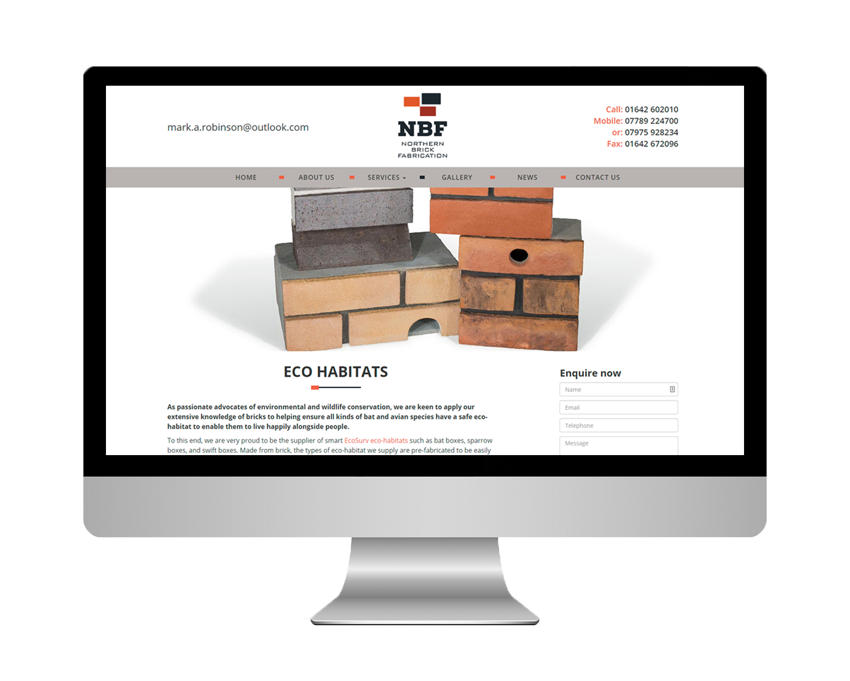 Northern Brick Fabrication WordPress Website