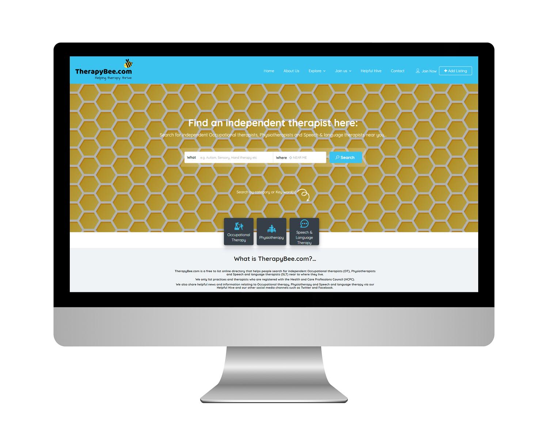 TherapyBee Directory Website Design
